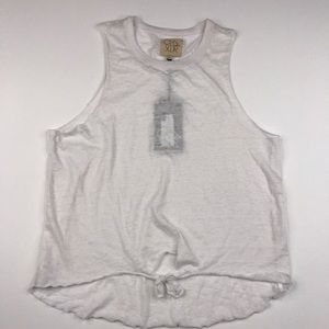 Chaser Brand White Vintage Muscle Tank Tee NWT